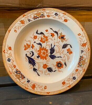 Antique Early 19th Century Wedgewood Creamware Imari Colours Plate