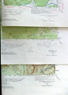 vintage USGS topo maps (3) - NH - 15' - Sunapee, North Conway, Crawford Notch
