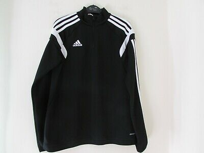 (C2636) Boys Adidas Climacool Zip Top Size Youth L 152cm  age 13-14 years Black