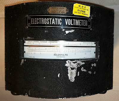 Vintage Sensitive Research Instrument Corp Static Voltmeter Douglas Aircraft Co