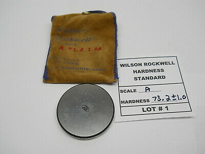 Wilson Rockwell Hardness Standard - Lot # 1 - A Scale 73.2 +/- 1.0 Hardness