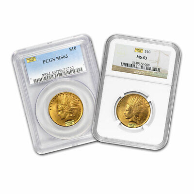 $10 Indian Gold Eagle MS-63 NGC/PCGS (Random)