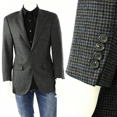 Mens 38R Chaps Ralph Lauren Lambs Wool Plaid 2 Button Sport Coat Blazer