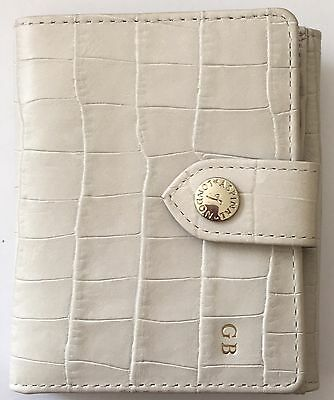 Aspinal of London DRM Project Vicki Wallet Off White Purse. RRP £85. Embossed.