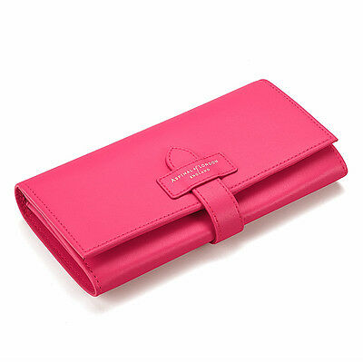 Aspinal of London Ladies Purse Wallet in Smooth Pink. Various Embossments.