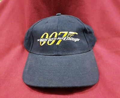 Vintage 007 The World Is Enough Hat Cap Embroidered Badge