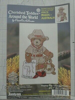 Counted Cross Stitch Pattern / Chart - Teddies  around the world - Australia