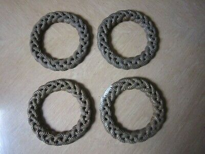 Vintage Antique Victorian Decorative Cast Iron Rope Braided Wall Door Ornaments