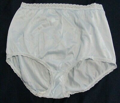 Vintage Sears The Doesnt Panty Nylon and Lace Blue Size 6 Hips 37 - 38