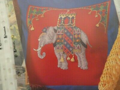 Counted Cross Stitch Pattern / Chart - Elephant Cushion