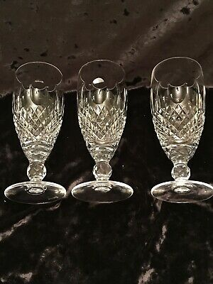 Waterford 3 Short Stem Champagne Crystal Colleen Essence Crystal!