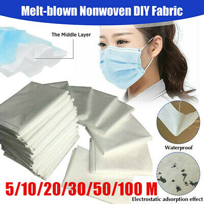 5M 10M 20M Melt-blown Nonwoven Fabric Face Craft Fusible Interlining Filter hot