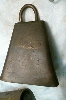 OLD   BRASS  HORSE OR COW BELL 5 x 5 INCHED GOOD DONGER