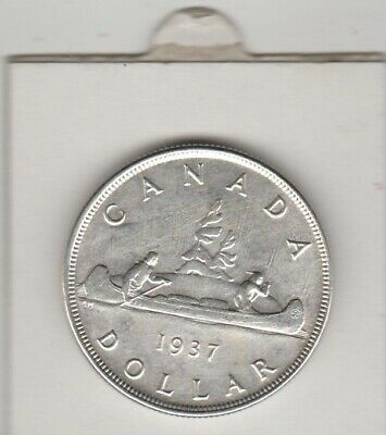 1937      Canada   Voyageur  Dollar   Large Silver .800  Coin  King George V1
