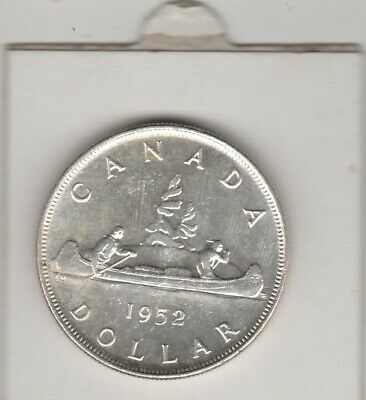 1952  Canada  Voyageur  Dollar  Large Silver .800  Coin  King George V1
