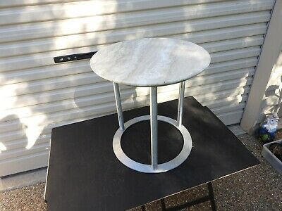 Marble Topped Coffee Side Table Stainless Steel Base