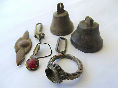 Lot of 7 Ancient Roman,Vizantine or Medieval Bronze Artifacts and Fragments