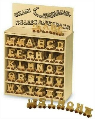 Personalised Wooden Letters Train Set Name Toy Gift For Him or Her Birthday