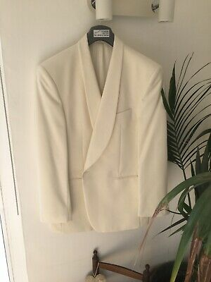 Mens Cream Dinner Jacket By Racing Green 46 Inch