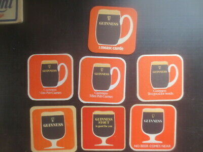 7 Different GUINNESS BREWERY,,world wide, collectable COASTERS E