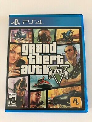 Grand Theft Auto V GTA 5 (Sony PS4, 2014)Original First Print Run Box+Game only