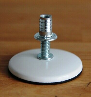 M8 ROTARY Threaded Adjustable Furniture Feet NUTS Wobbly Fix NO NEED TO LIFT