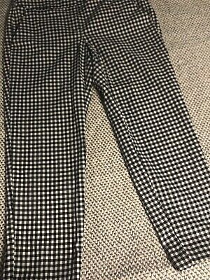 Ann Taylor Loft Women's Black And White Gingham Check Julie Pants