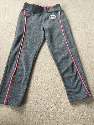 Yd Sport Active Leggings Girls Age 8-9 Marl Grey Pink 3/4 Cropped