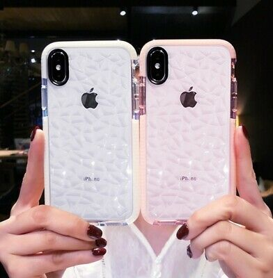 For iPhone XR XS Max 7 8 Plus 6s 6 Case Clear Diamond Cute Shockproof Gel Cover