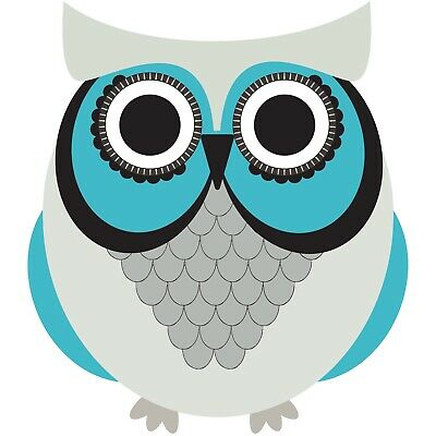 "3"" Colorful Cute Owl Kids Blue Boy Gray Craft Nursery  Baby Vinyl Cool Sticker"