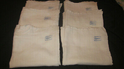 Six (6) Vintage Curity Diapers Good Blue Stamp