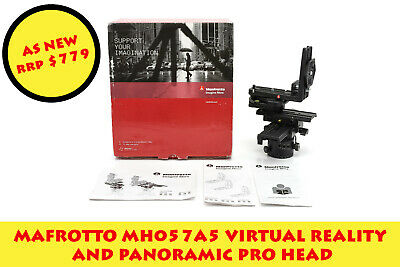 *FREE EXPRESS POST* AS NEW Manfrotto MH057A5 VR and Panoramic Pro Head RRP $779