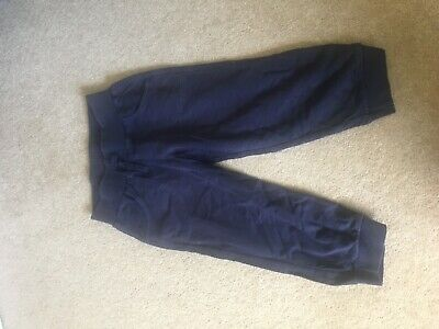 Girls Bavy Blue Cropped Jogging Bottoms Age 8-9