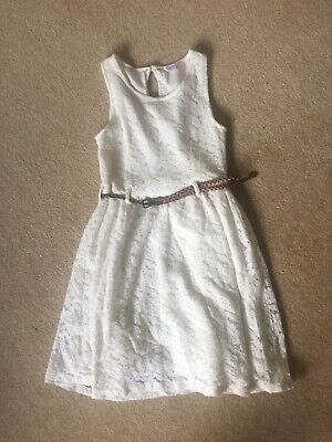 Girls Miss Evie Cream Lace Dress Age 11 worn once
