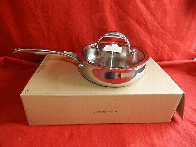 Princess House Heritage Tri-Ply Stainless Steel 8'' Skillet (5724) New W Box!!