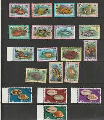 Tuvalu  -  (25) Small Selection Of Fine Used  - 2  Scans