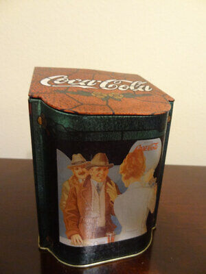 Coca Cola Vintage Tin With Hinged Lid 1996.