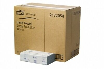 New Tork Universal H31 Last Stock! Hand Towel Single Fold Blue Carton (24 Packs)
