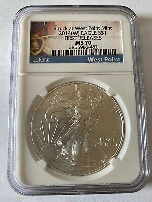 2014-W American Silver Eagle  First Release NGC MS70