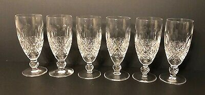 """Set Of 6 Waterford Colleen Short Stem Champagne Flutes 6"""" Tall"""