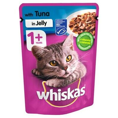 Whiskas Tuna in Jelly Wet Adult 1+ Cat Food Pouches 100g