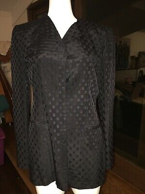 GIORGIO ARMANI Couture Stunning Womens Black Silk and Velvet Formal Jacket