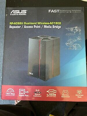 Original ASUS RP-AC68U Wireless AC1900 Dual-Band Repeater/Range Extender/Access
