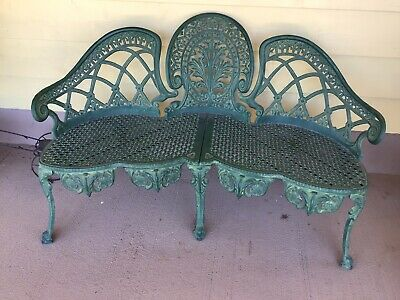 Antique colebrookdale Style Cast Iron Love Seat.