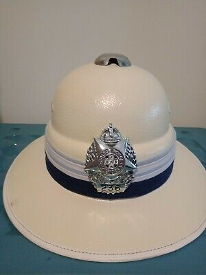 Victoria Police Pith Helmet with low number Badge in Excellent Condition
