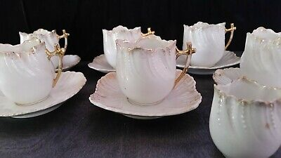 Set of Six Vintage Porcelain Cups and Saucer Duos