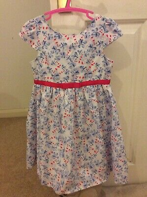 Young Dimension White Floral Girls Dress Age 3-4years