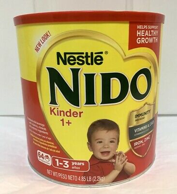 Nestle NIDO Kinder 1+ Toddler Drink X-Large Can (4.85 lbs.) Milk Based Powder