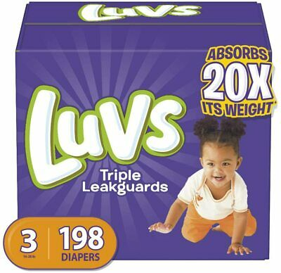 Diapers Size 3, 198 Count - Luvs Ultra Leakguards Disposable Baby Diapers