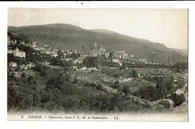 CPA-Carte Postale-FRANCE-Grasse Panorama Gare et funiculaire--VM15015